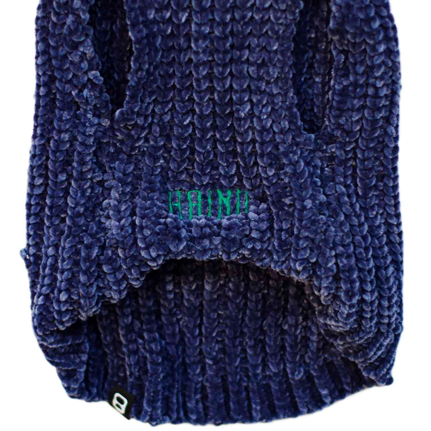 CHENILLE YARN SWEATER - NAVY
