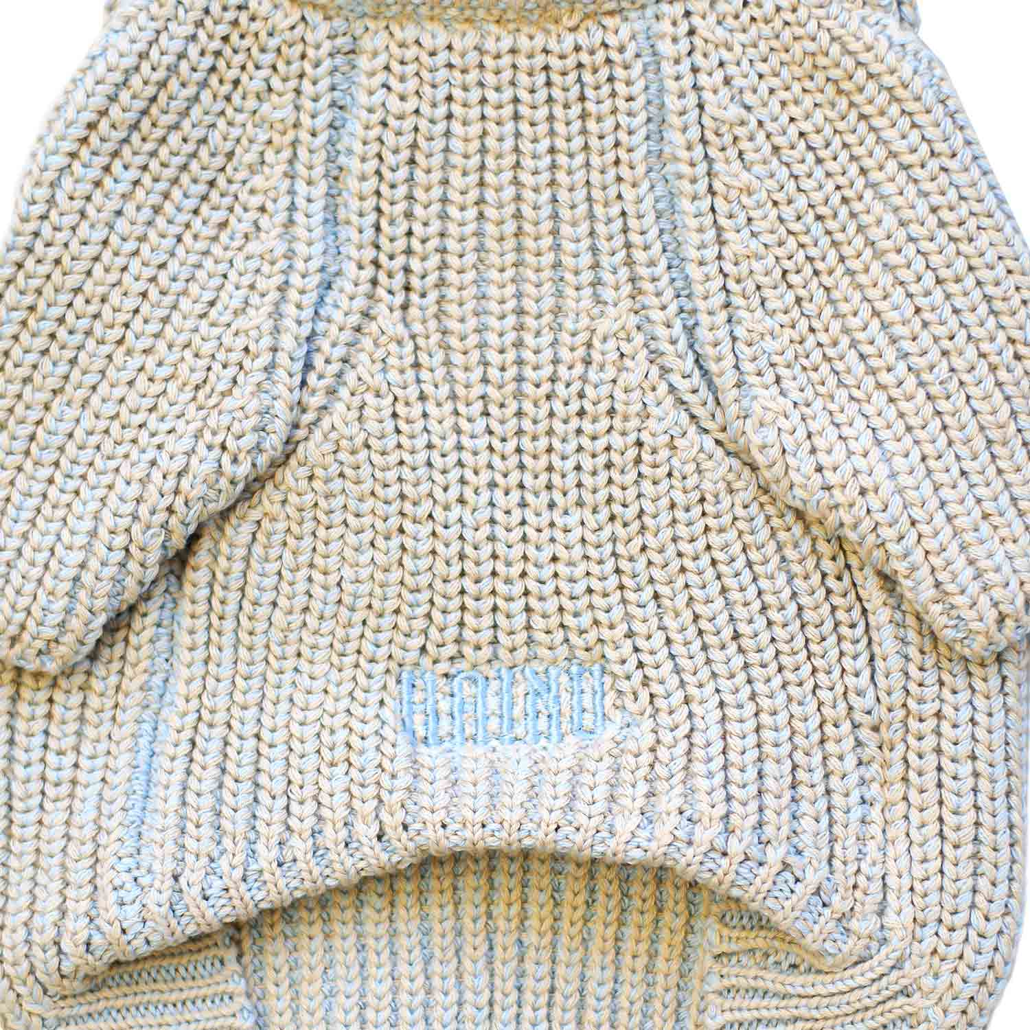MIX COTTON SWEATER SKY/BEIGE