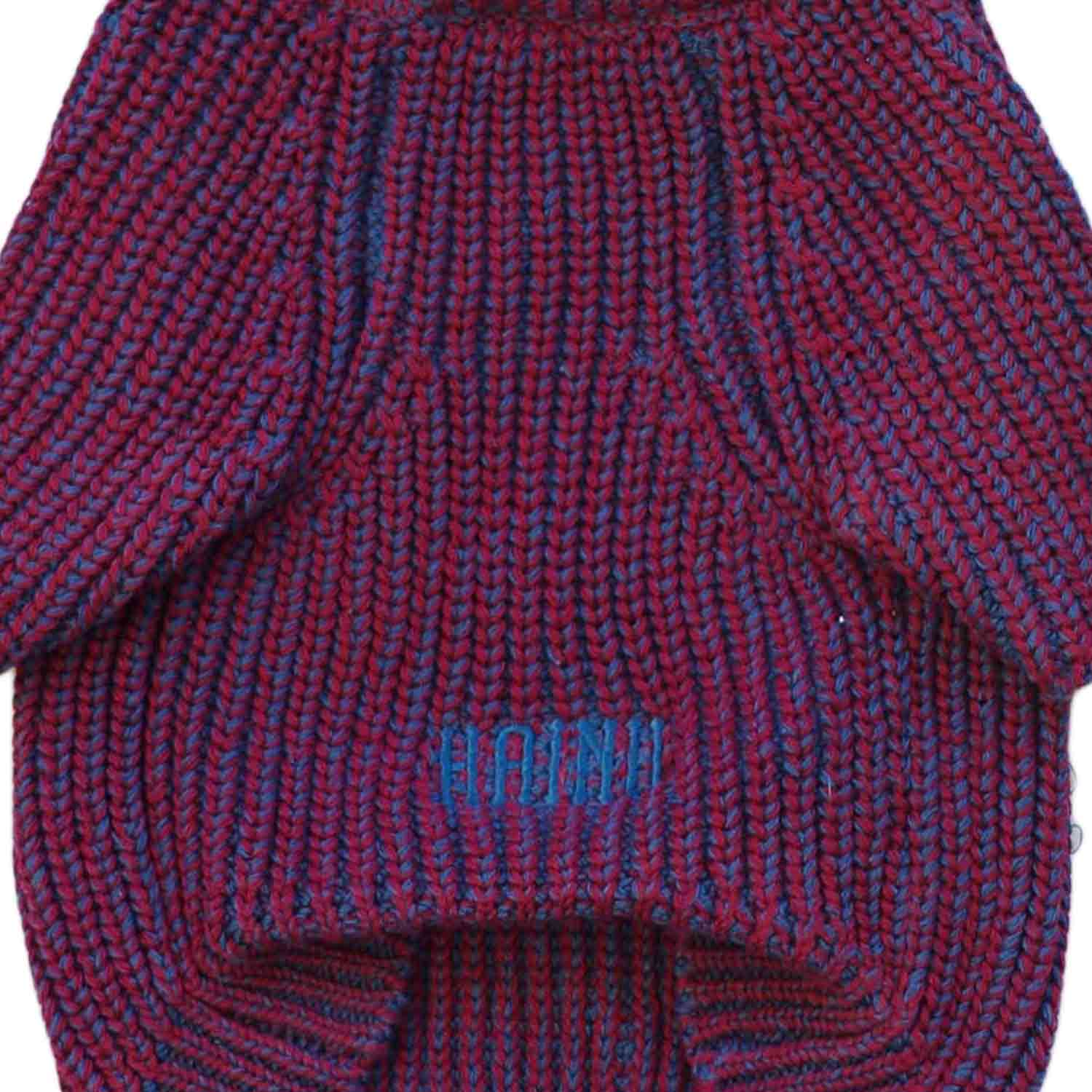 MIX COTTON SWEATER RED/NAVY