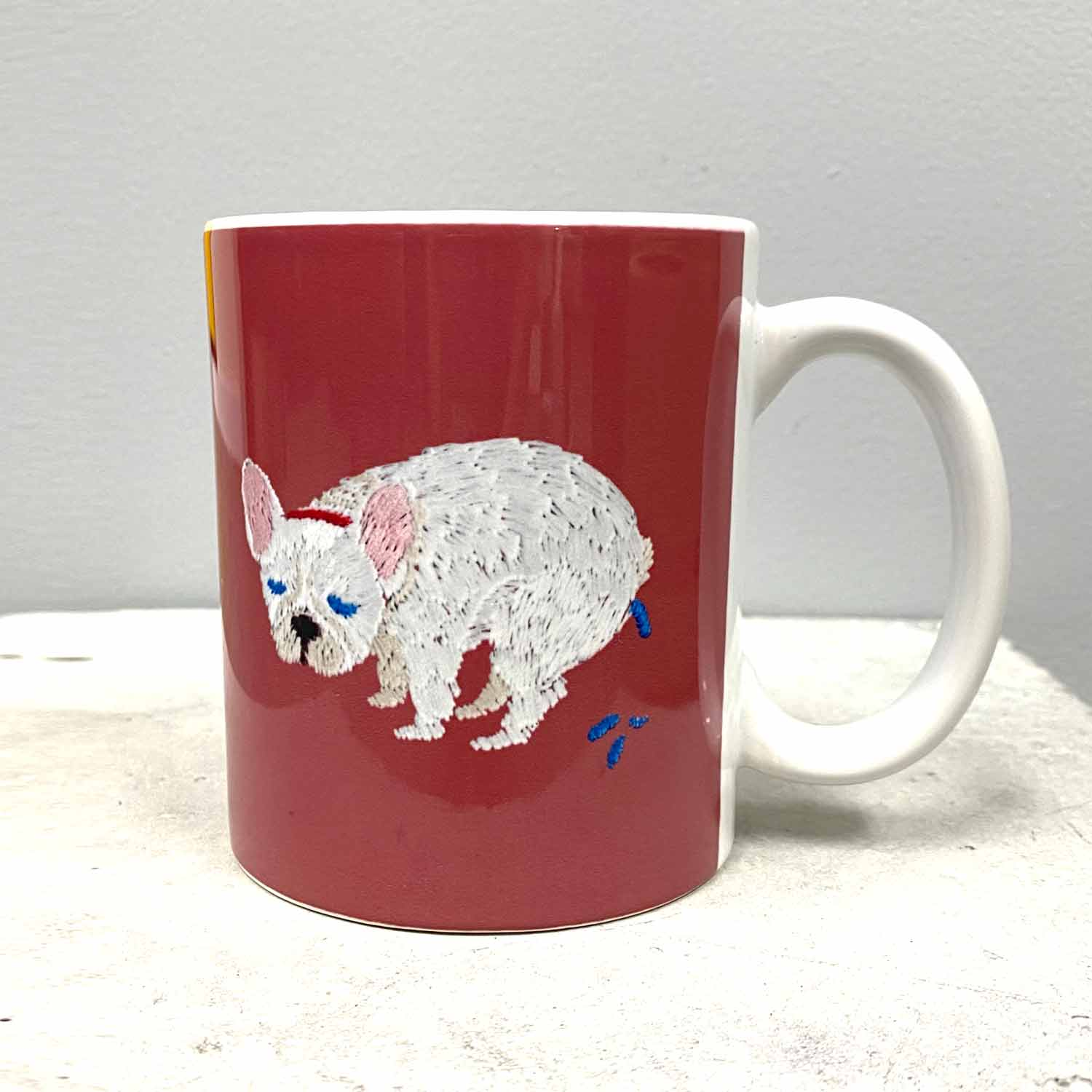 F/B POOPING MUG - CREAM