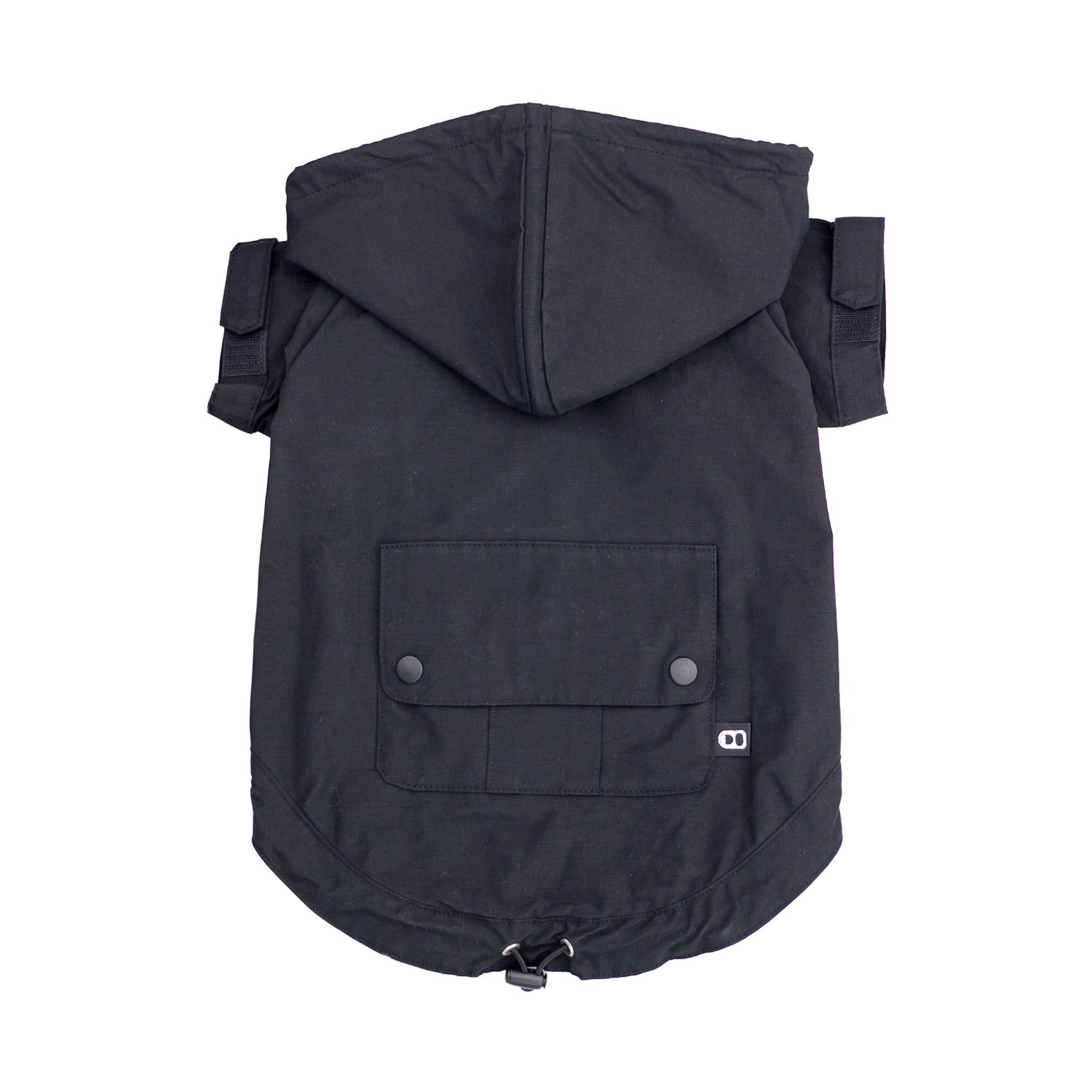 DRAWSTRING WINDBREAKER BLACK
