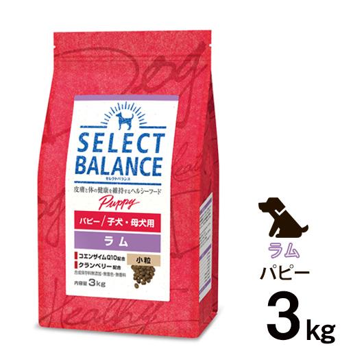 [正規品]セレクトバランス パピー ラム 小粒 子犬・母犬用 3kg