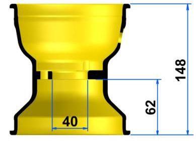 TECNOマグネシウムホィール<Rタイプ>リア        カデットサイズあり