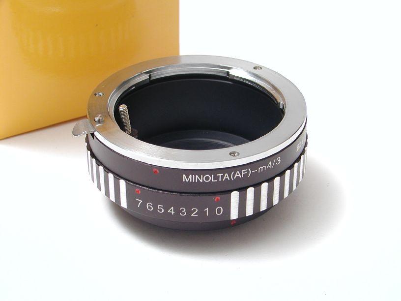 エレフォト ボディマイクロフォーサーズ-レンズミノルタAF マウントアダプター