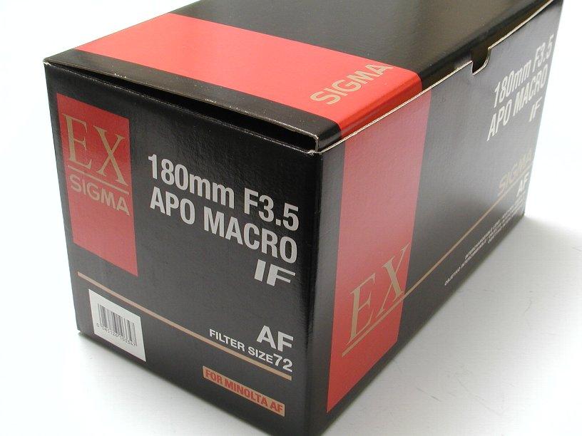 シグマ AF180/F3.5 APO マクロ ミノルタ用