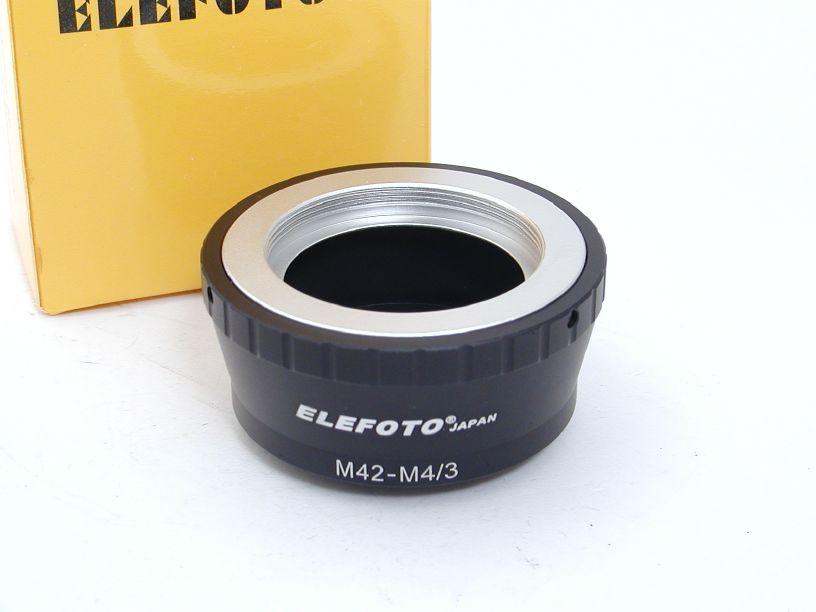 エレフォト ボディマイクロフォーサーズ-レンズM42 マウントアダプター