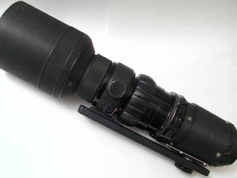 ニコン ニッコールP600/F5.6 改造ペンタックス645マウント
