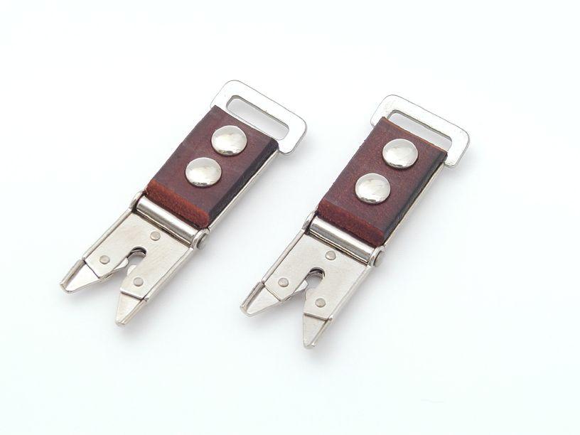 ローライフレックス用ストラップ金具(カニ爪) 茶色
