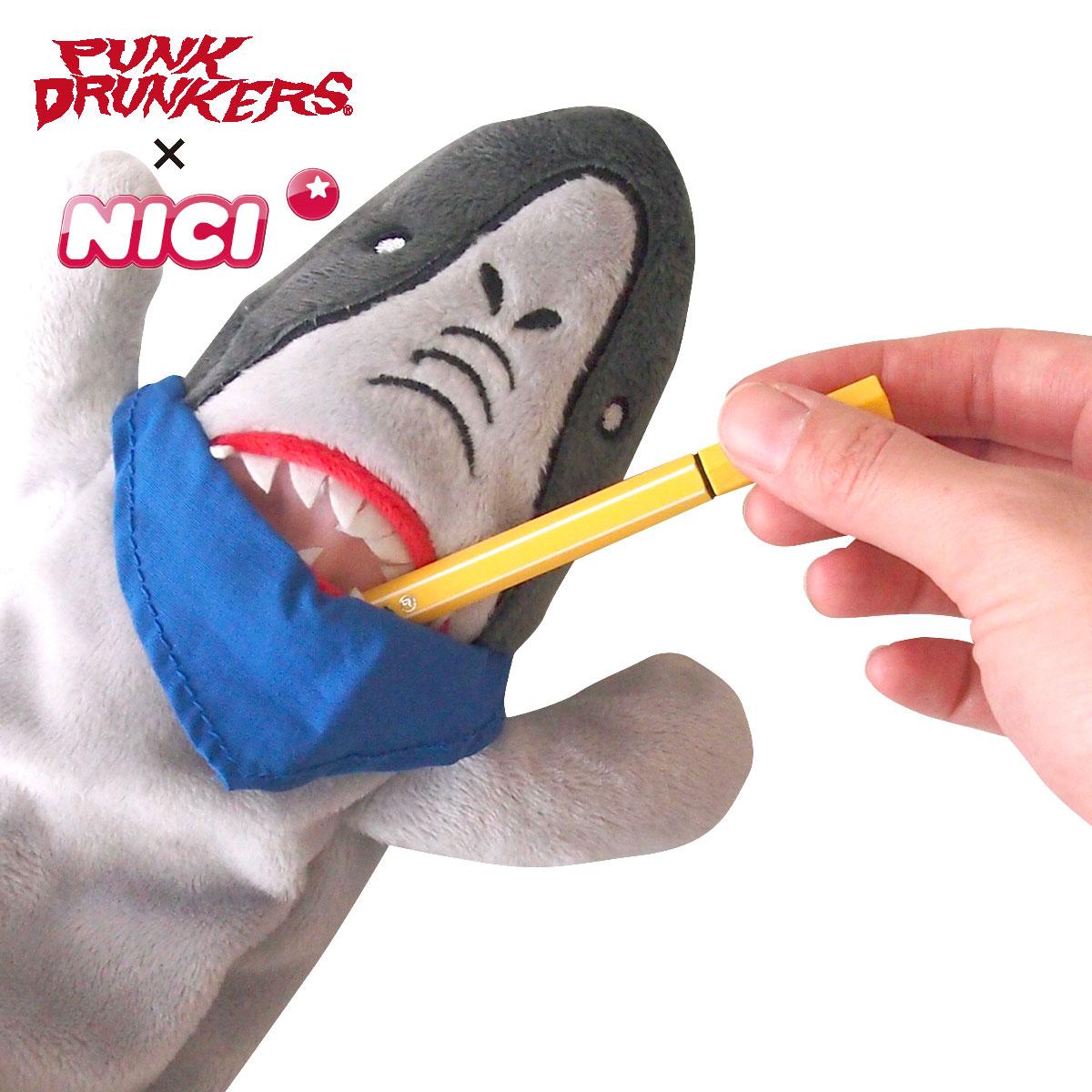 【PUNK DRUNKERSxNICI】フィギュアポーチ (鮫人)