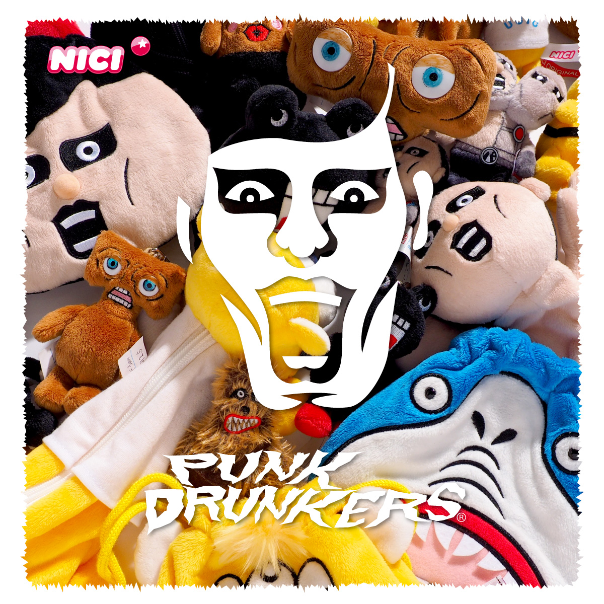 【PUNK DRUNKERSxNICI】キーホルダー (サードベア)