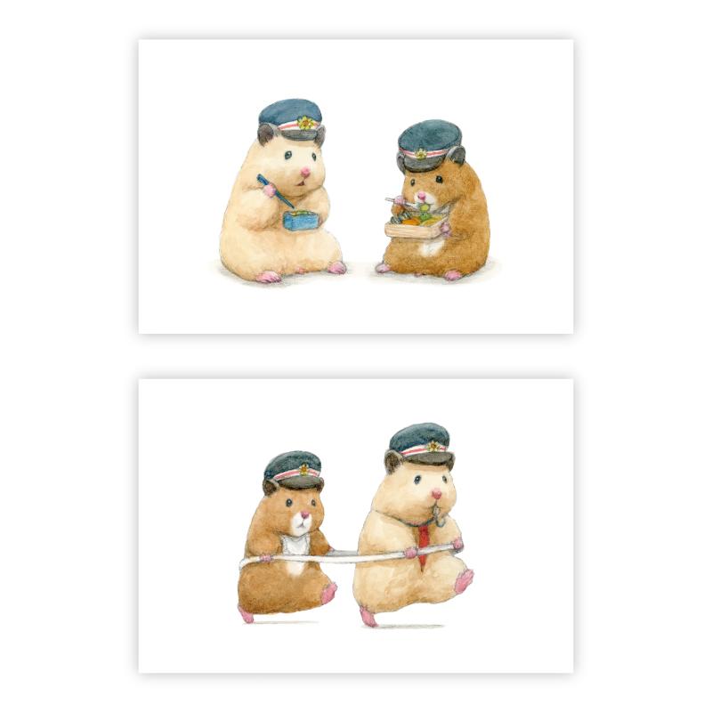 『助六の日常』ポストカード(駅長2)2種