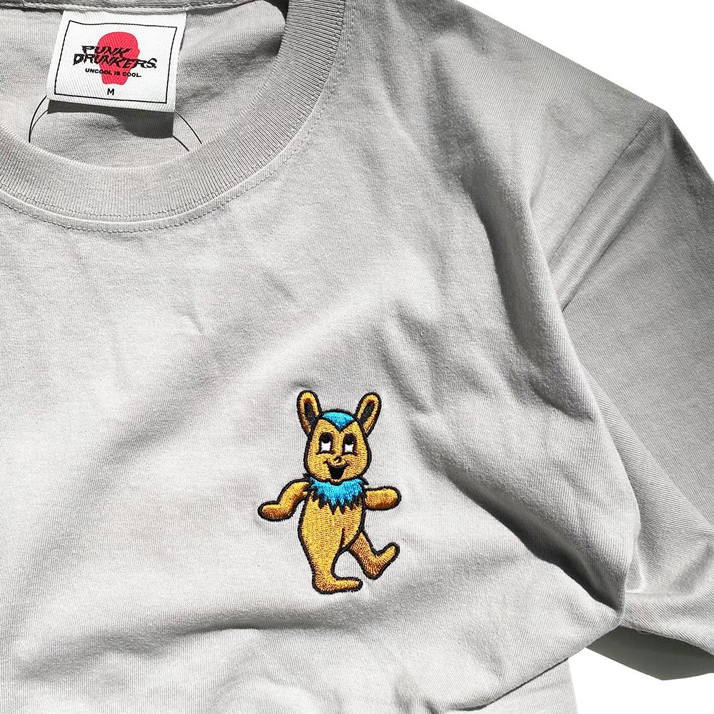 【PUNK DRUNKERS】グレイトフルマッポ刺繍Tシャツ【PENGUIN SOUVENIR限定カラー】