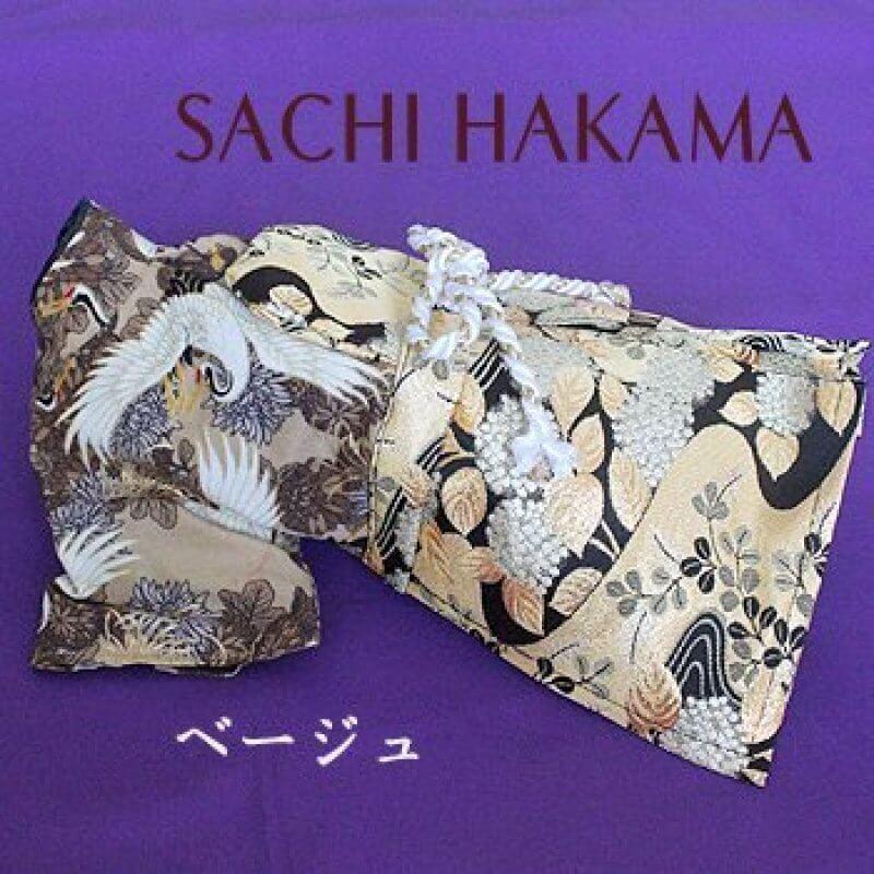【SACHI】鶴の舞はかま(帯電防止裏地付き)