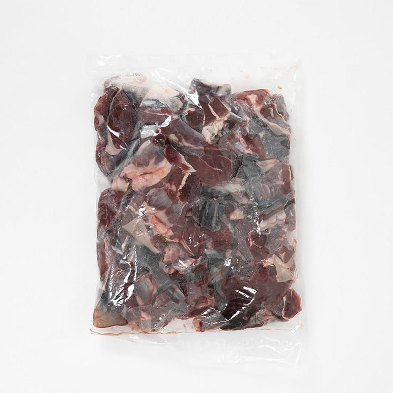 【定期便用】鹿の赤身 ぶつ切り肉 1Kg