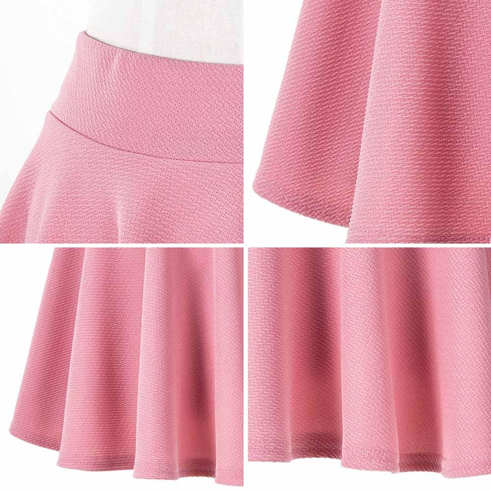 サーキュラーフレアスカート インナーパンツ付き タイプとロングタイプ ウエストゴム 2*16色