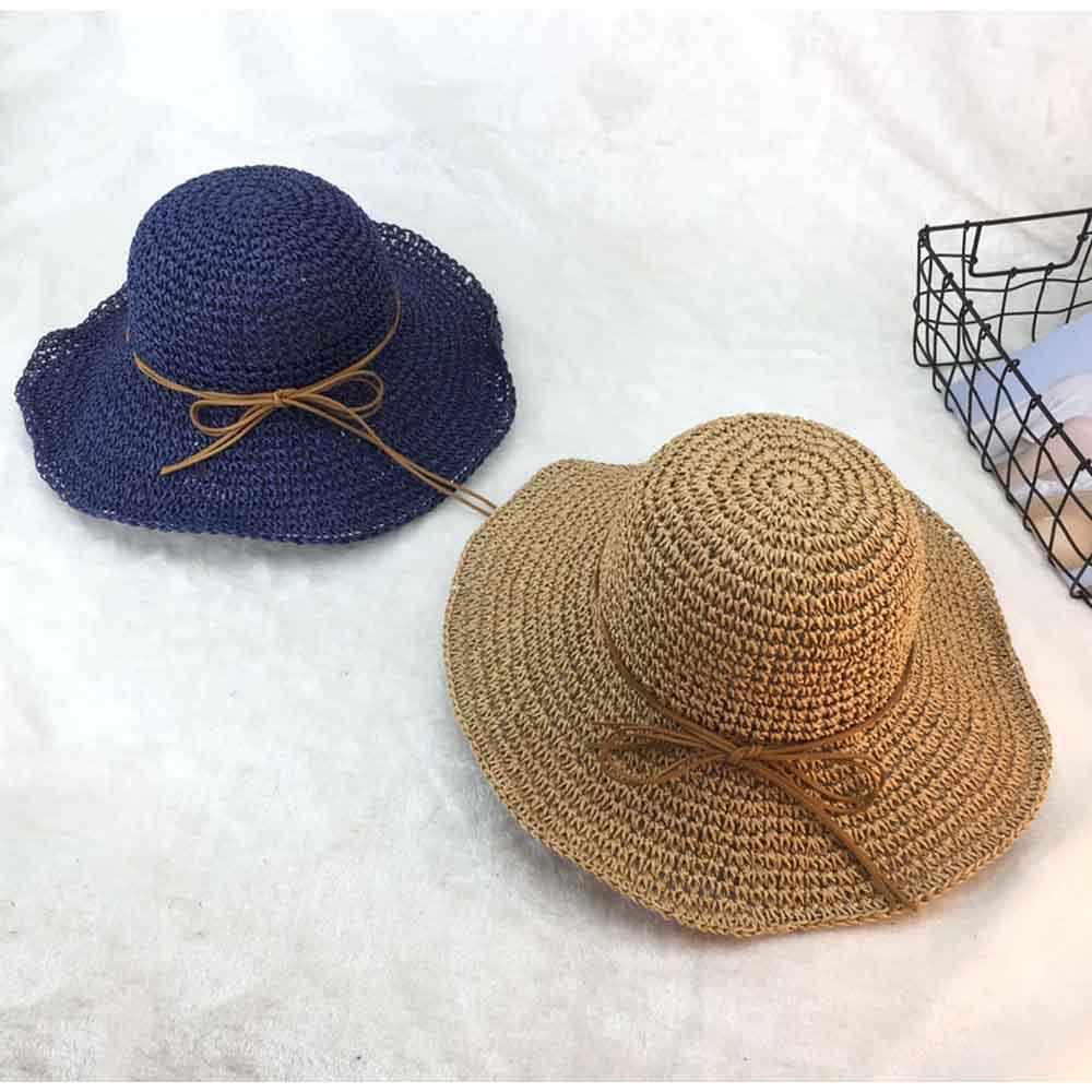 麦わら帽子 レディース 折たたみ つば広 ハット uvカット おしゃれ 細リボン 帽子