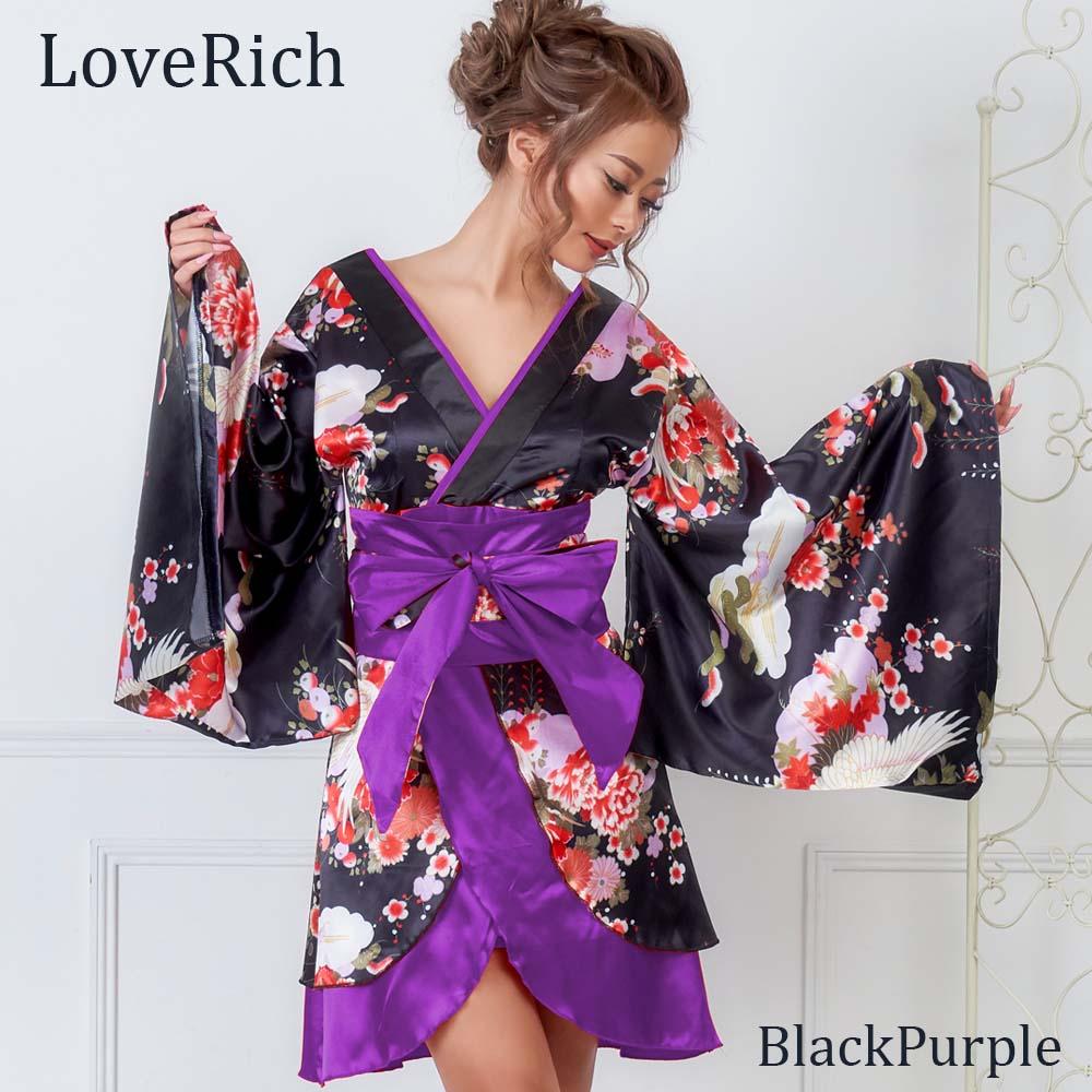和柄着物ドレス 和柄 衣装 ダンス よさこい 花魁 コスプレ キャバドレス