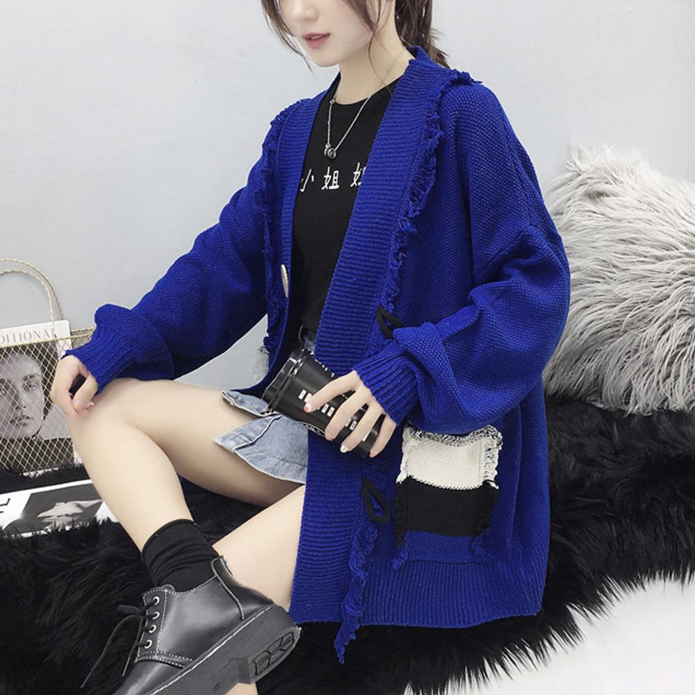 カーディガン レディース 秋冬 韓国ファッション BIGシルエット