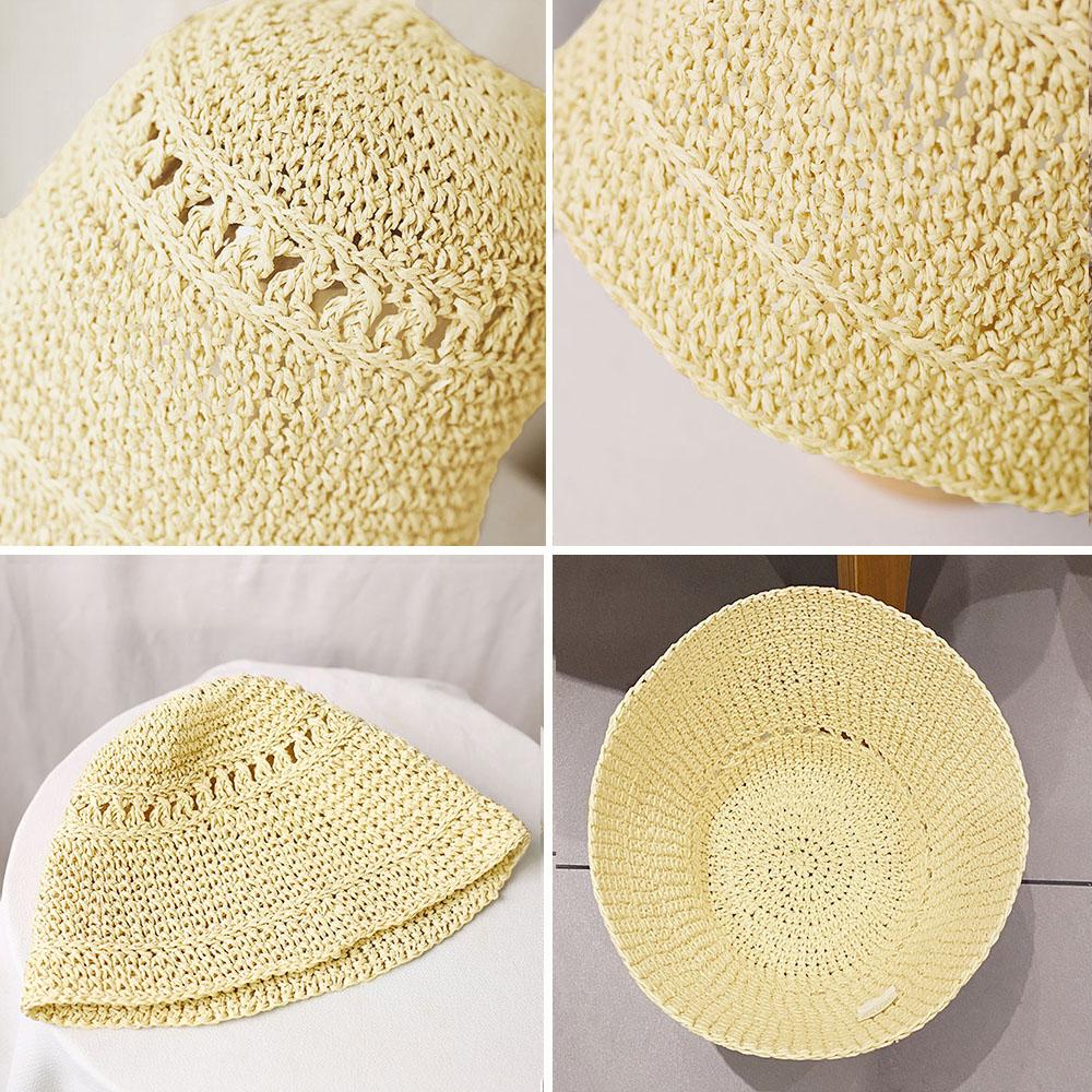麦わら帽子 レディース ストローハットUVカット バケットハット 日焼け対策 日よけ帽子