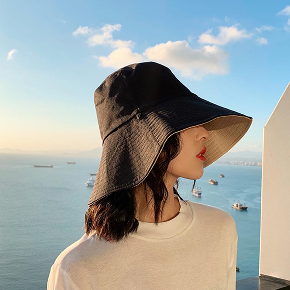 帽子 レディース サマーハット リバーシブルタイプ 日よけ つば広 あご紐付き 小顔効果 夏