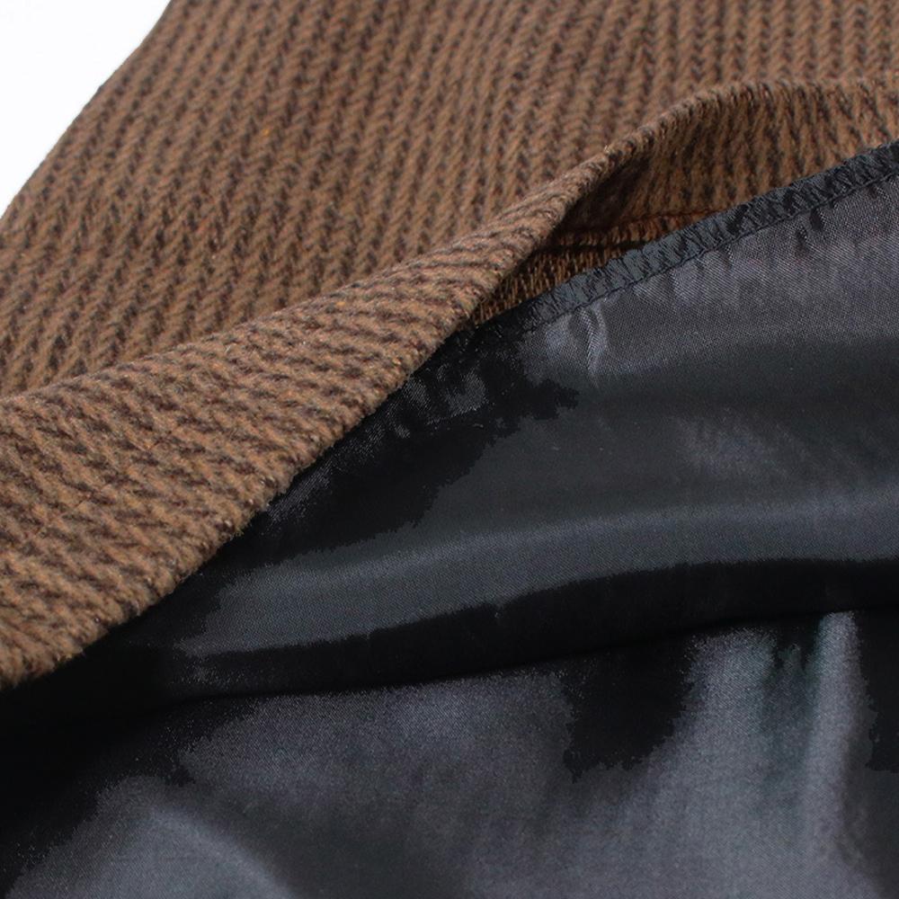 ミニタイトスカート レディース ハイウエスト 台形スカート 秋冬 厚手 ボトムス 美脚