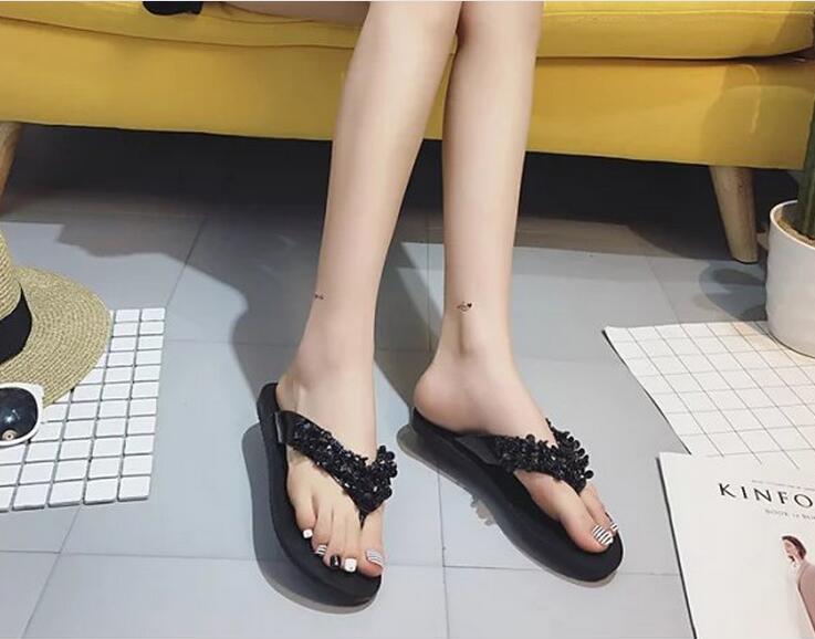 ビジューサンダル/ビーチサンダル/靴 レディースサンダル/歩きやすい
