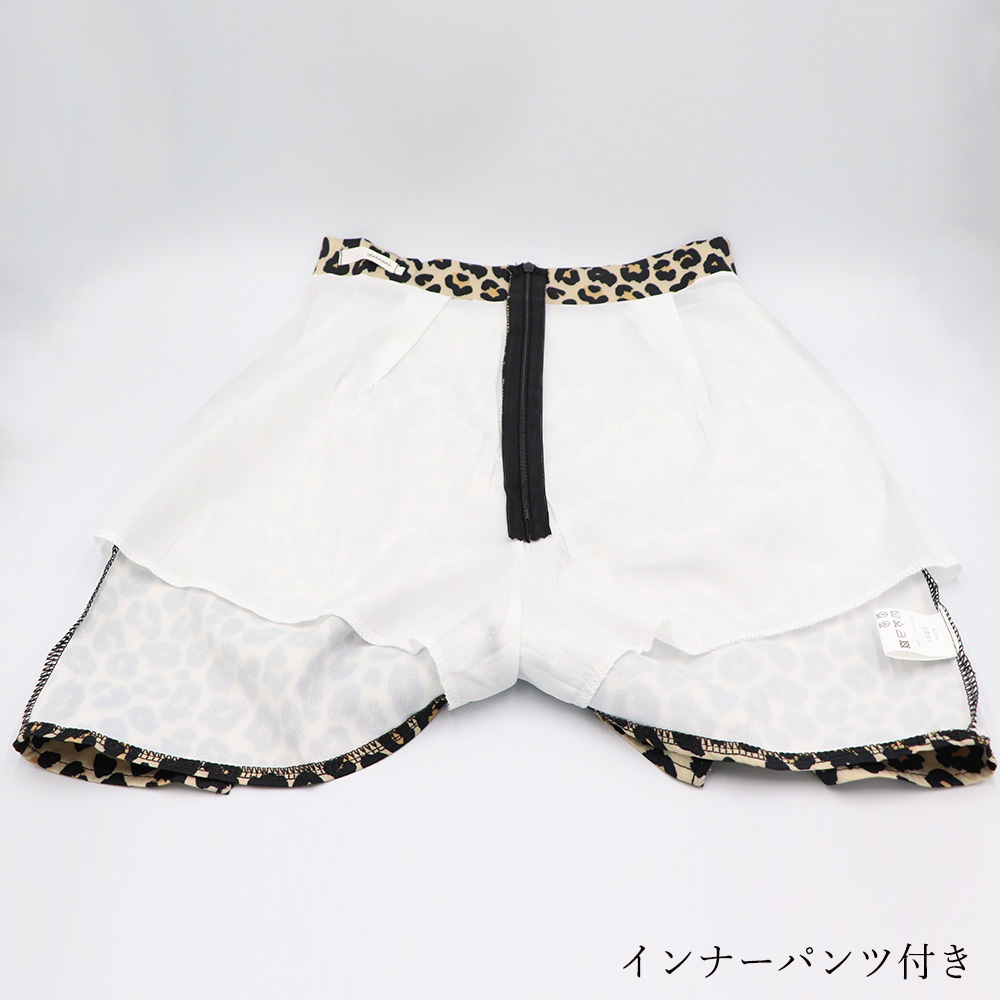 ヒョウ柄 ミニスカート レディース レオパード柄 膝上スカート インナーパンツ付き