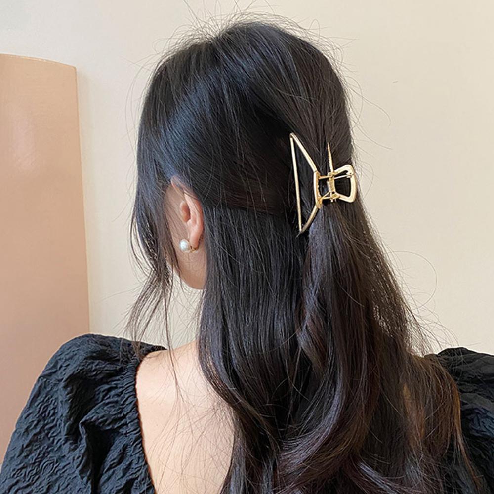 ヘアクリップ ゴールド シンプル バンスクリップ 髪留め クリップ 韓国 まとめ髪