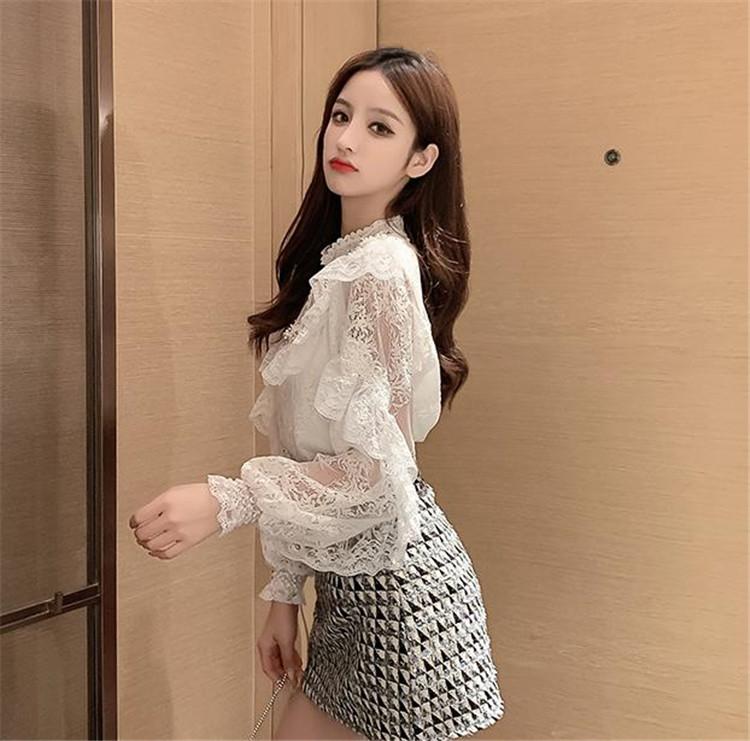 韓国ファッション 2020年秋 新作 2点セット レース カジュアル 上着 ミニスカート