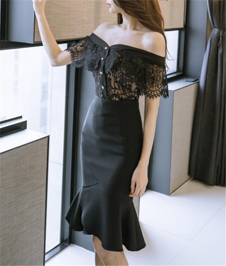 韓国ファッション  シャツ スカート セット セットアップ  通勤