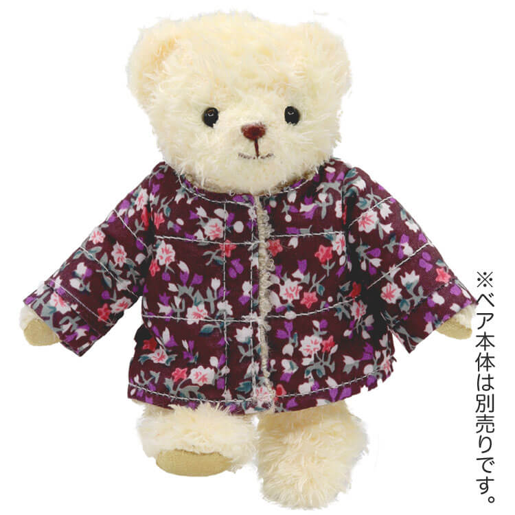 【メール便対象商品】TBノーカラー花柄コート