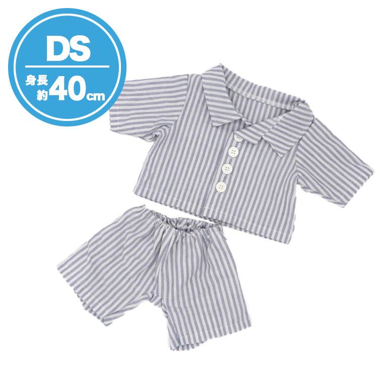 【メール便対象商品】DSブルーストライプ柄パジャマ【DS(身長40cm用)】