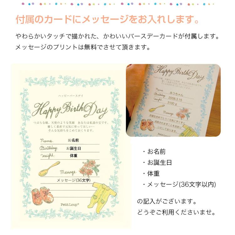 【送料無料】ロンパース姿のファーストベア Miu&Kei【誕生日/名前入り】