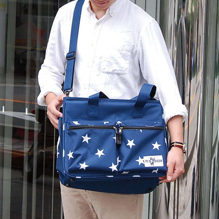 【PQ】星柄トートバッグ 【再入荷しました】