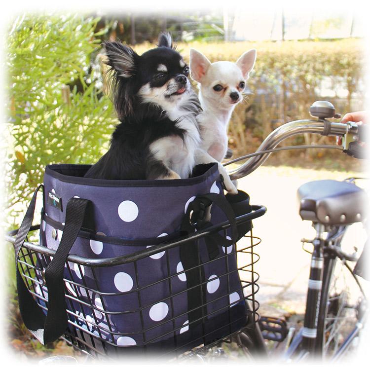 【PQ】サイクリングドット柄バッグ