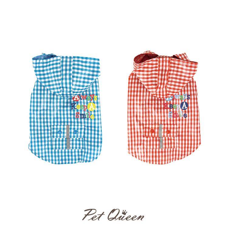 【PQ】ギンガムチェックレインコート (撥水加工) 【専用袋付き】2号・3号・4号・5号・6号