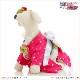 犬 ペット 着物レンタル 女の子 わんこ 小型犬 ksr-009 ペット衣装 犬の着物 動物衣装 七五三 結婚式 高級生地 かわいい フォトブック 動画 プレゼント「ピンクきらきら星にモダン帯」