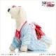 犬 ペット 着物レンタル 女の子 わんこ 小型犬 kmr-008 ペット衣装 犬の着物 動物衣装 七五三 結婚式 高級生地 かわいい フォトブック 動画 プレゼント「水色ハートに慶文様帯」