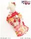 犬 ペット 着物レンタル 女の子 わんこ 中型犬 klr-001 ペット衣装 犬の着物 動物衣装 七五三 結婚式 高級生地 かわいい フォトブック 動画 プレゼント「赤地慶花に金地桜帯」