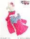 犬 ペット 着物レンタル 女の子 わんこ 中型犬 klr-007 ペット衣装 犬の着物 動物衣装 七五三 結婚式 高級生地 かわいい フォトブック 動画 プレゼント「ピンクきらきら星に水色慶華帯」