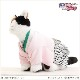 猫 着物レンタル cat ペット衣装 男の子 cds-007 ねこの着物 七五三 結婚式 年賀状 撮影会 往復送料無料 高級生地 かわいい 「ピンクちりめんに銀地モダン袴」