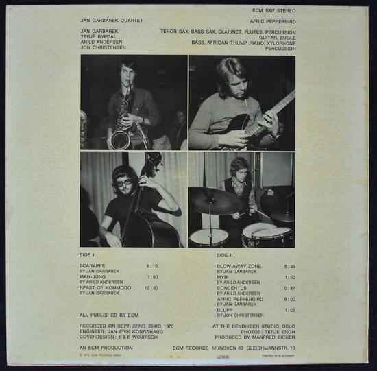 Jan Garbarek Quartet - Afric Pepperbird