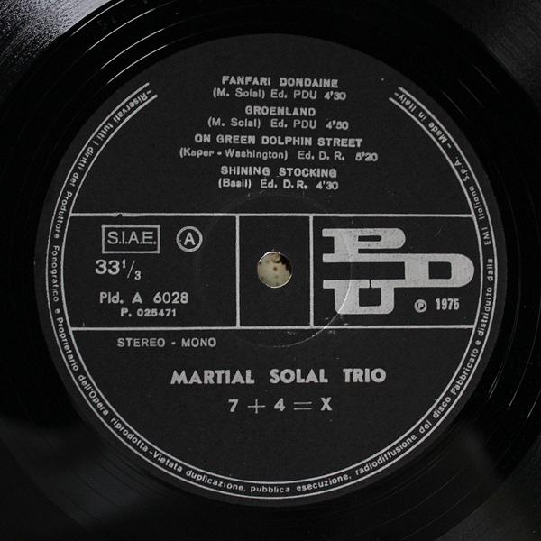 Martial Solal Trio - 7 + 4 = X