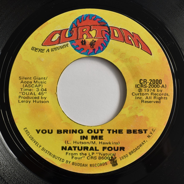 The Natural Four - You Bring Out The Best In Me / You Can't Keep Running