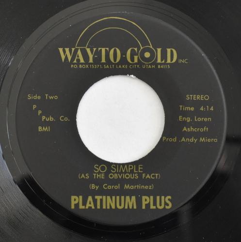 Platinum Plus - Why Must We Part / So Simple