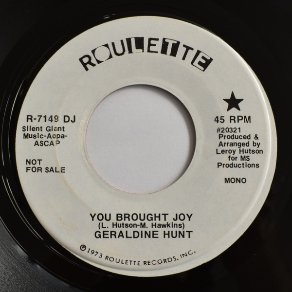 Geraldine Hunt - You Brought Joy (ST)