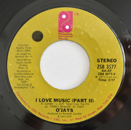 The O'Jays - I Love Music (Part�) / (Part�)