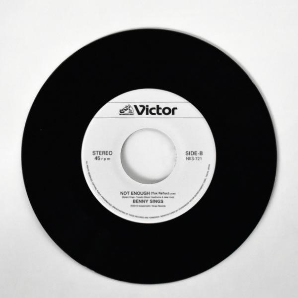 Benny Sings - Not Enough / Not Enough (Tuxedo Remix) [7inch] <2019年レコードの日アイテム>