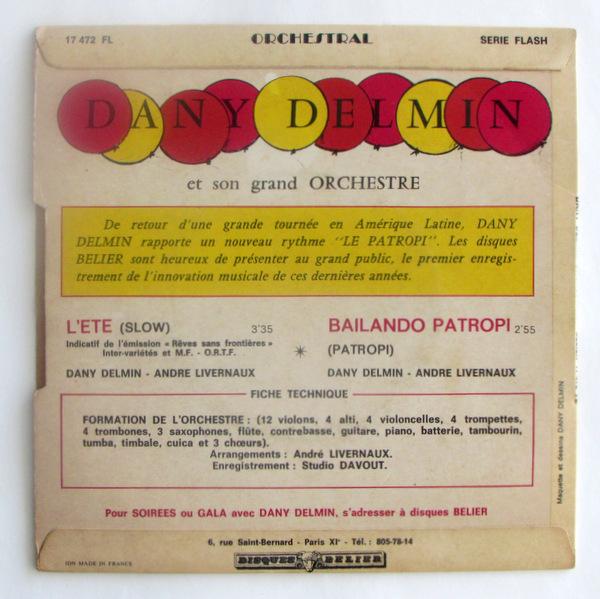 Orchestral Dany Delmin - Bailando Patropi  / L'Ete