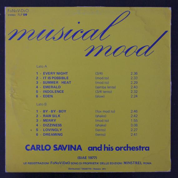 Carlo Savina And His Orchestra - Musical Mood